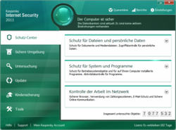 Kaspersky Internet Security - Hauptfenster